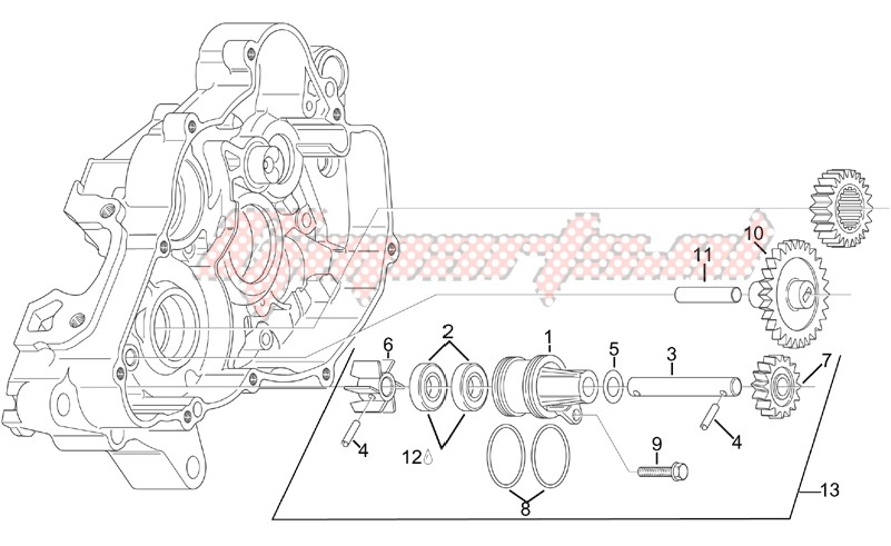 Engine-Water pump assy