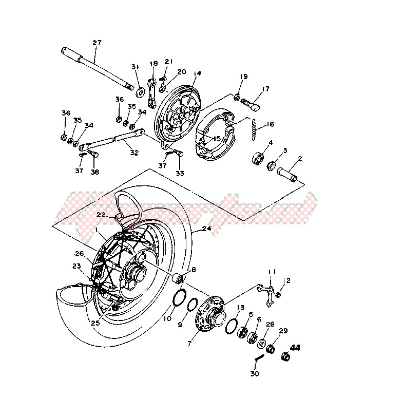 OEM parts Yamaha [Motorcycle] DT R - DT X 50 / 2006   Goparts