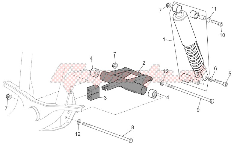 R.shock absorber-connect. Rod image