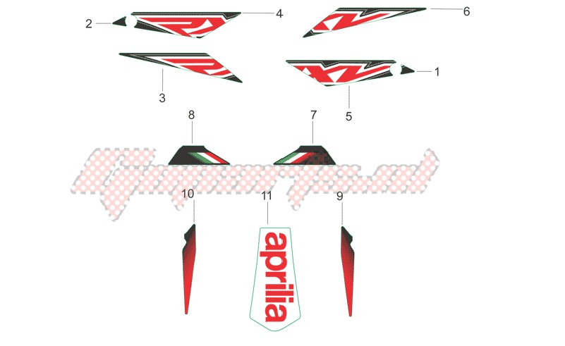 Rear body decals image