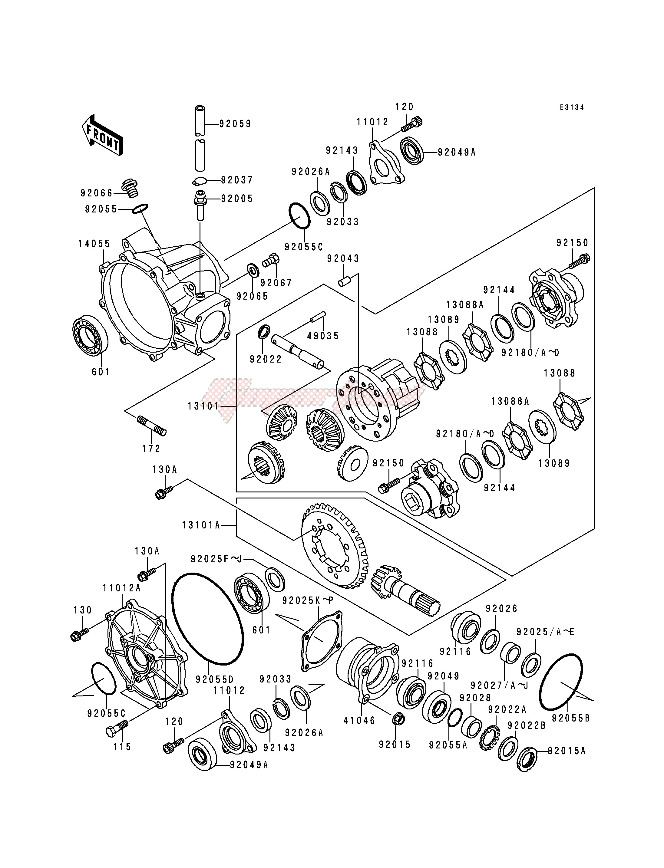 DRIVE SHAFT -- DIFFERENTIAL- - image