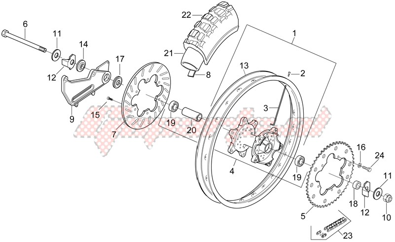 Rear wheel - Enduro image