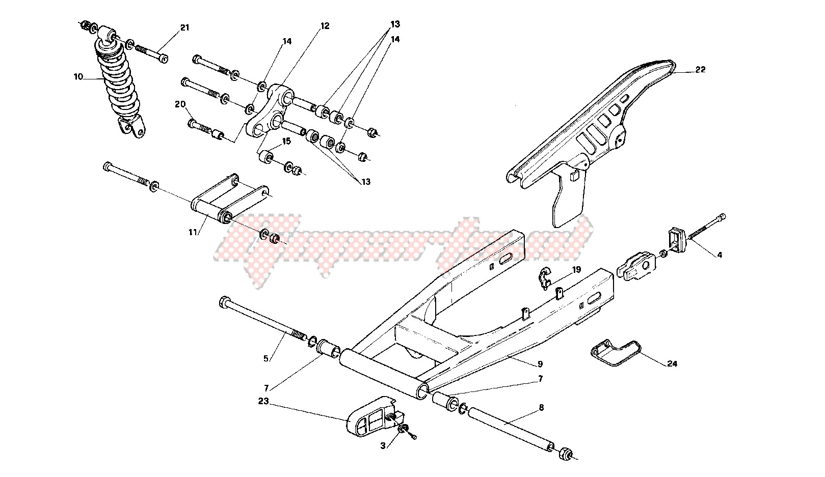 Suspensions - Wheels-Rear swing arm