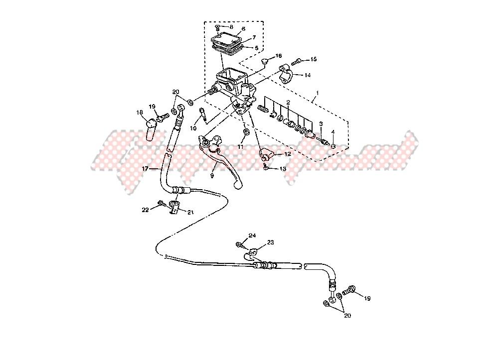 CLUTCH MASTER CYLINDER blueprint
