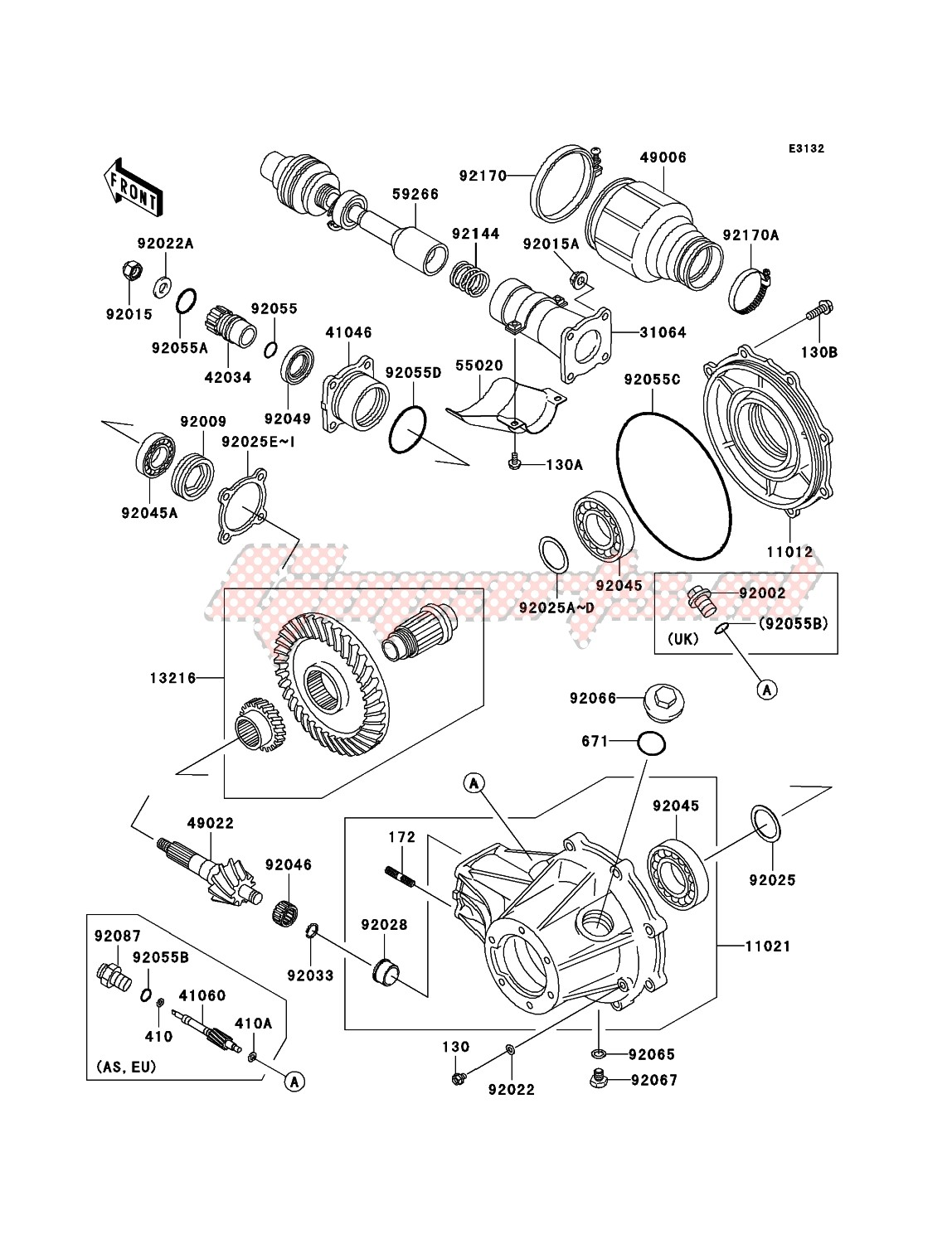 Engine-Drive Shaft/Final Gear