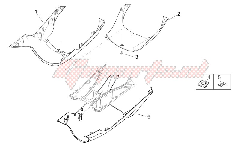 Frame-Central body - Underpanel