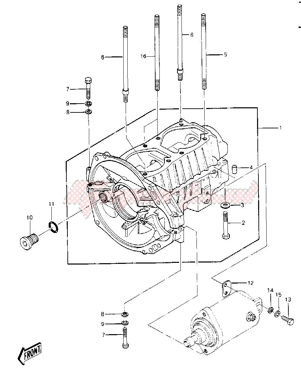CRANKCASE -- 84-86 JS440-A8_A9_A10- - image
