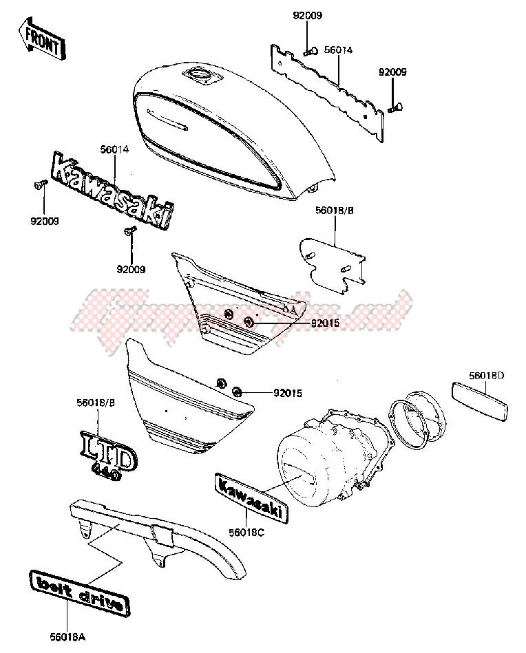 KZ 550 A KR Bremssattel Reparatursatz vorne KAWASAKI KZ 440 D LTD Belt