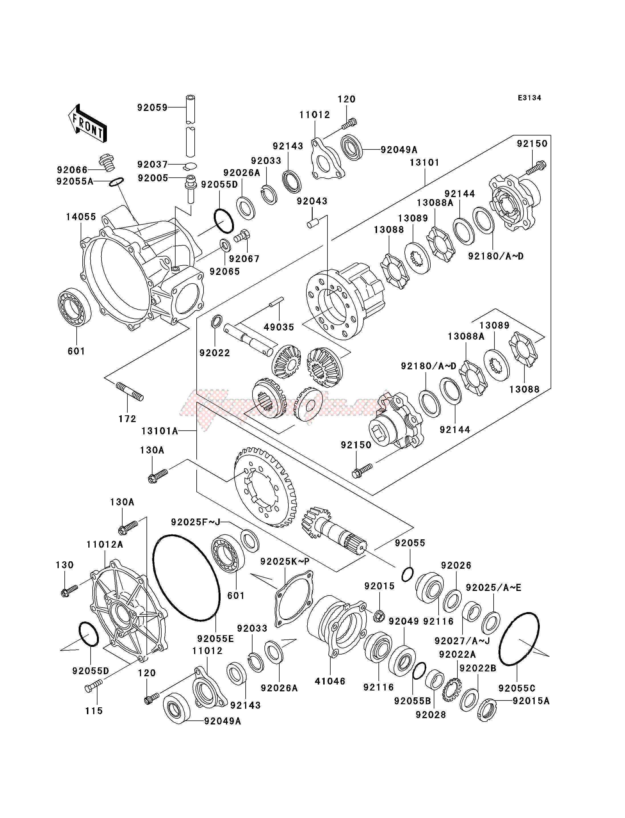 Frame-DRIVE SHAFT -- DIFFERENTIAL- -