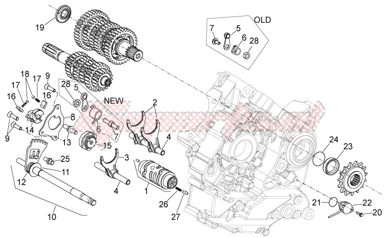 Engine-Gear box selector