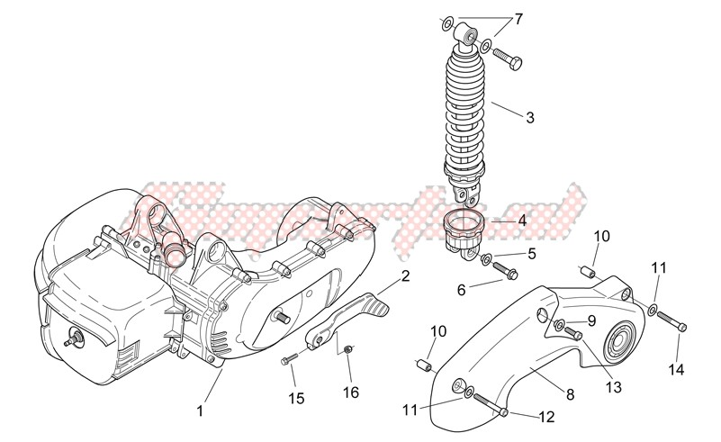 Engine-Shock absorber