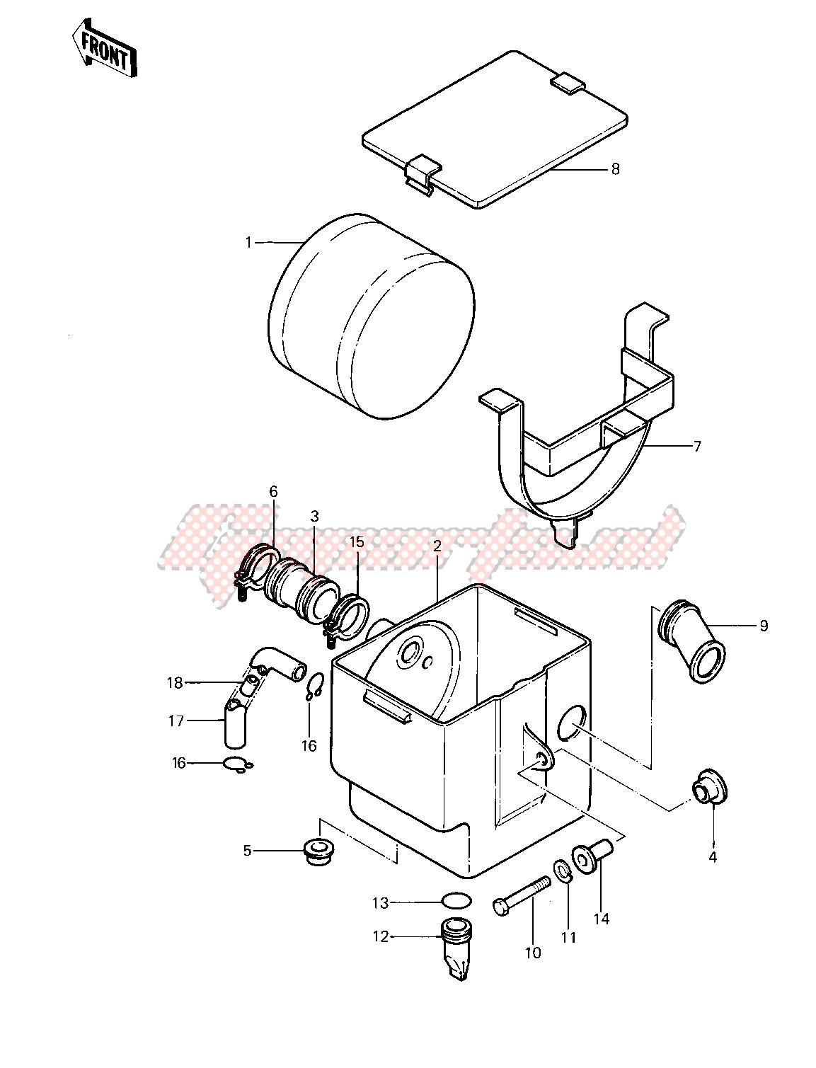 AIR CLEANER -- 83 KLT200-A4_A4A- - image