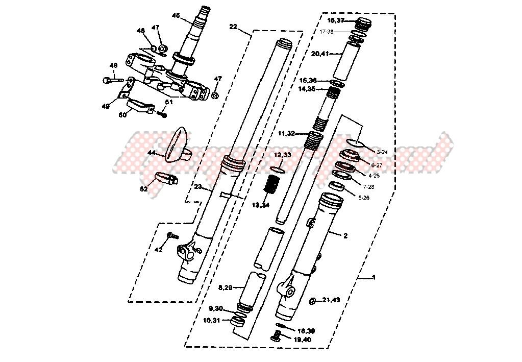 FRONT FORK blueprint