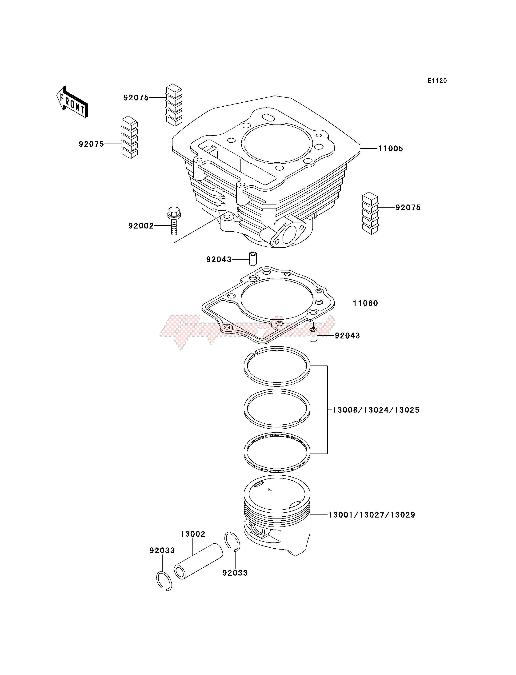 Engine-CYLINDER_PISTON-- S- -