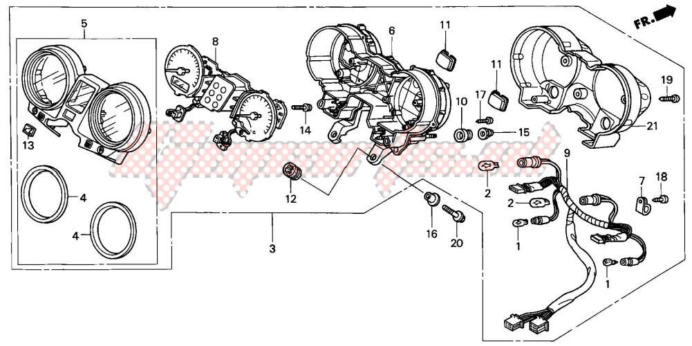 METER (CB600F3/4) blueprint