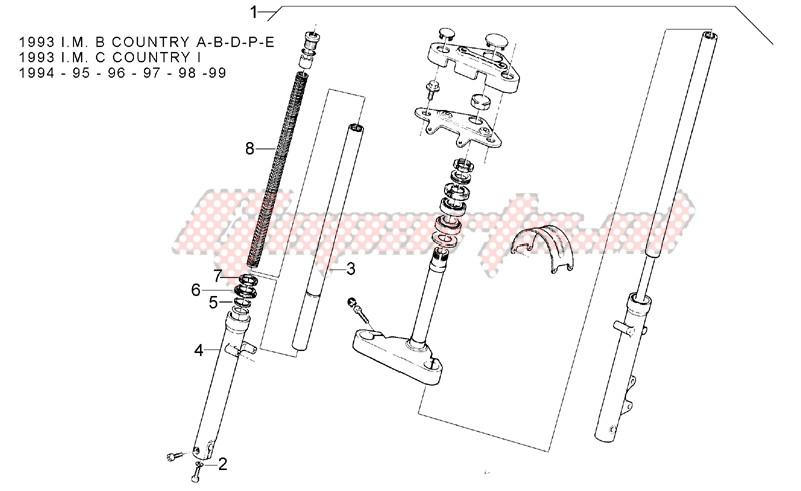 Front fork 93-99 - RH Sleeve image