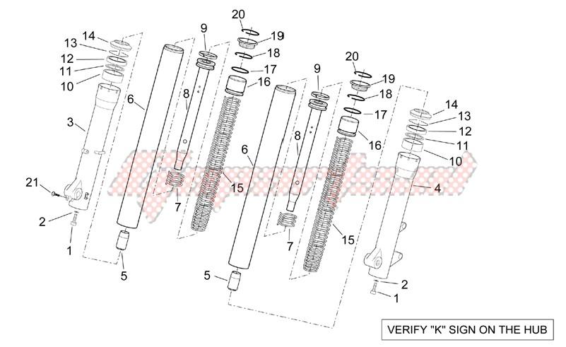Kaifa front fork - Hubs sleeves image