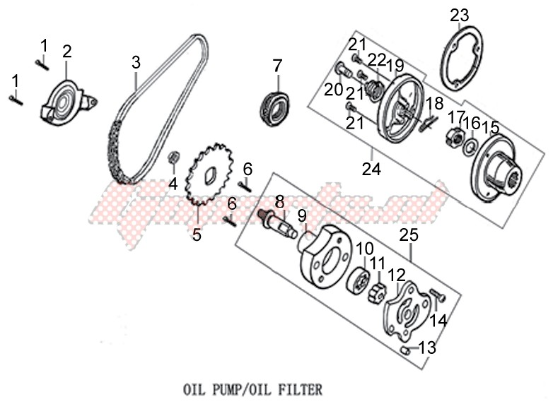 Engine-Oil pump - Oil Filter
