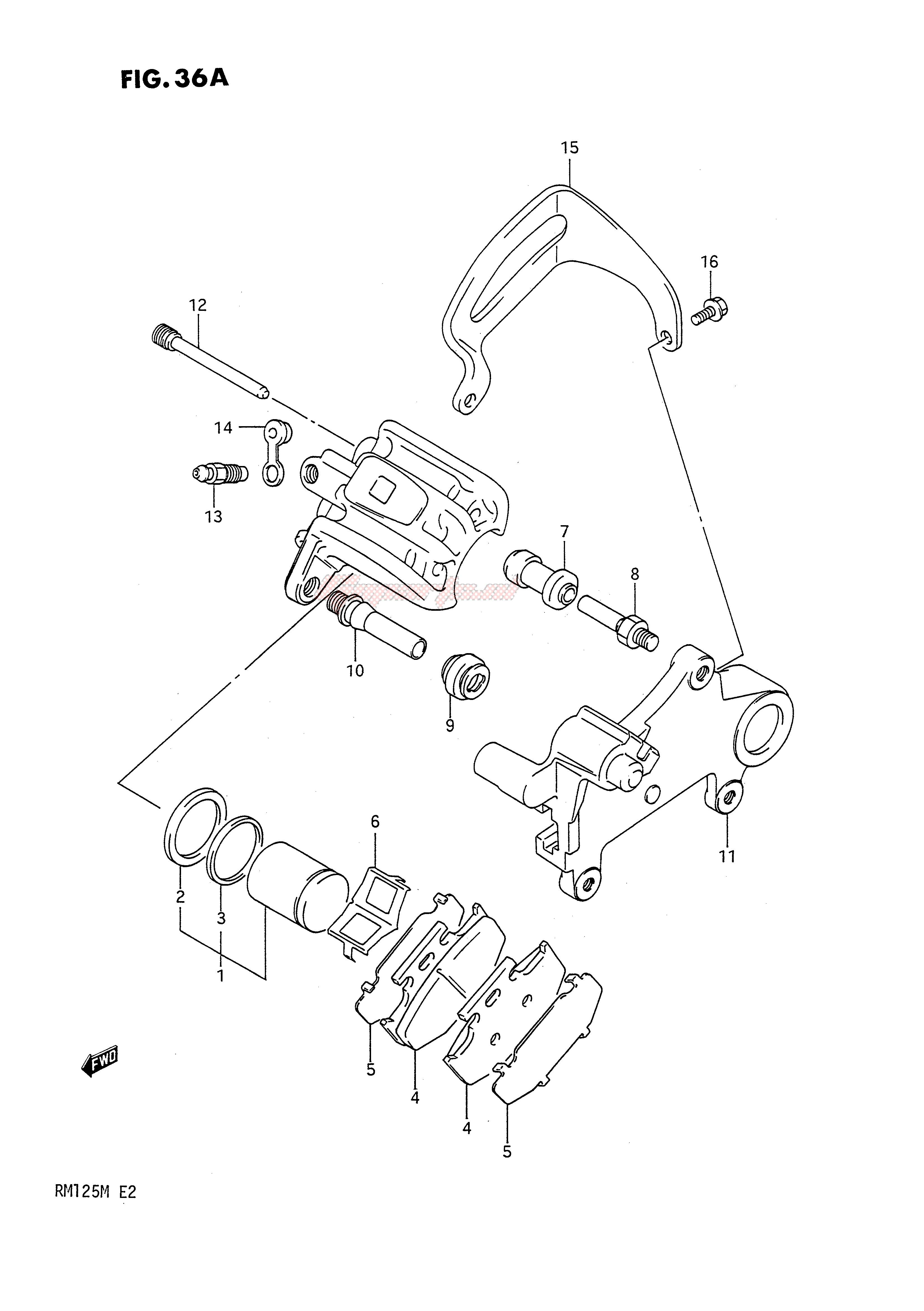 REAR CALIPERS (MODEL L) blueprint