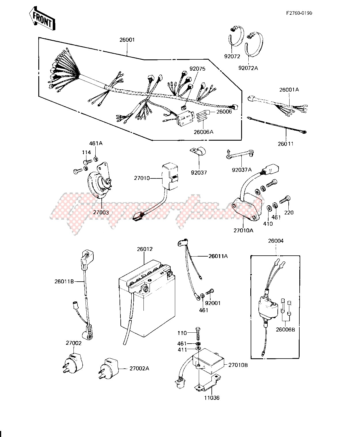 kz750 80 wiring diagram oem chassis electrical equipment kz750 h4  kawasaki  oem chassis electrical equipment