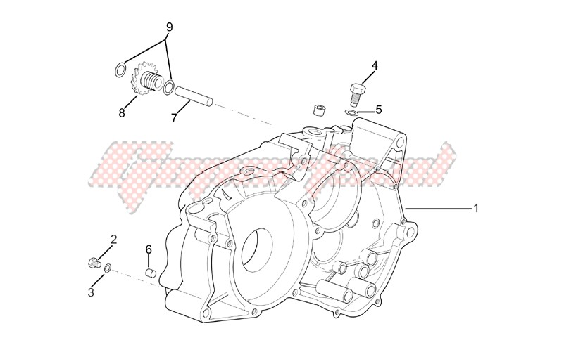 Engine-Right crankcase