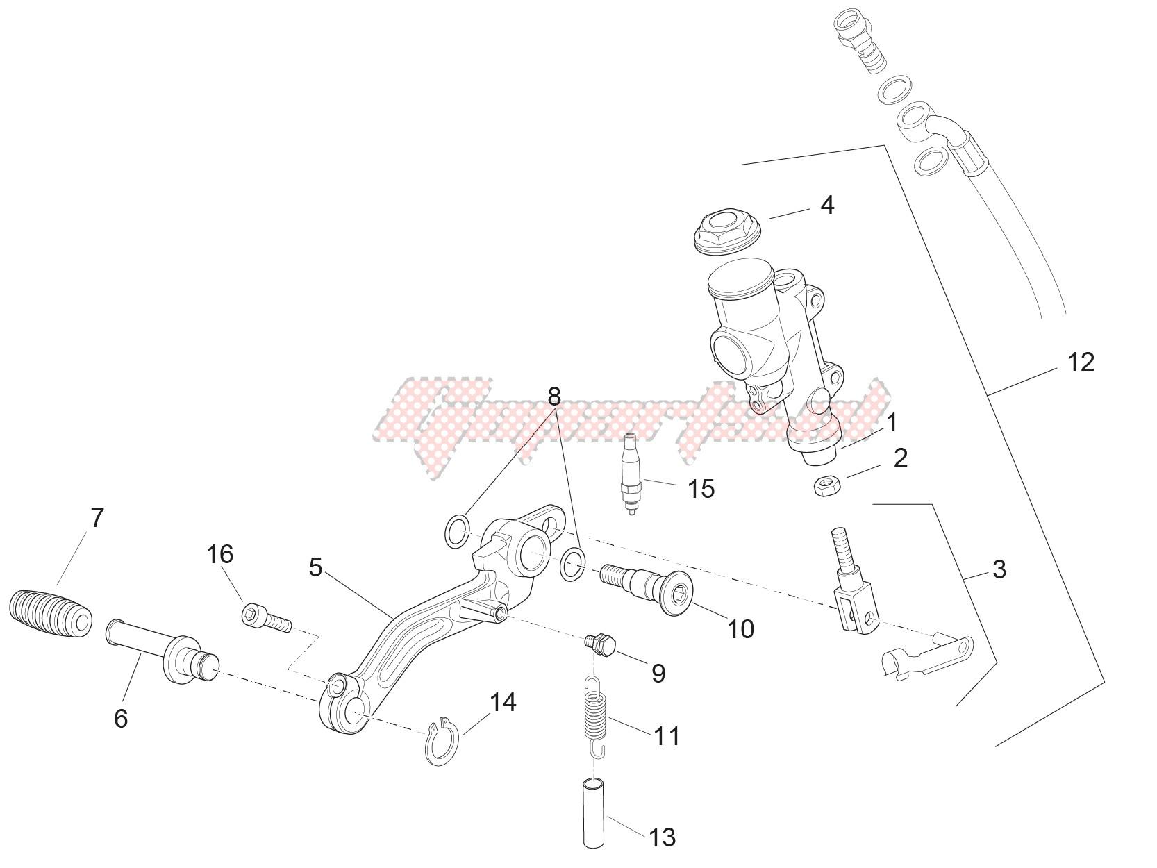 Rear master cylinder image