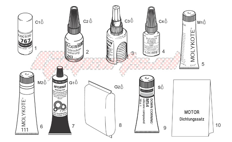 Sealing and lubricating agents image