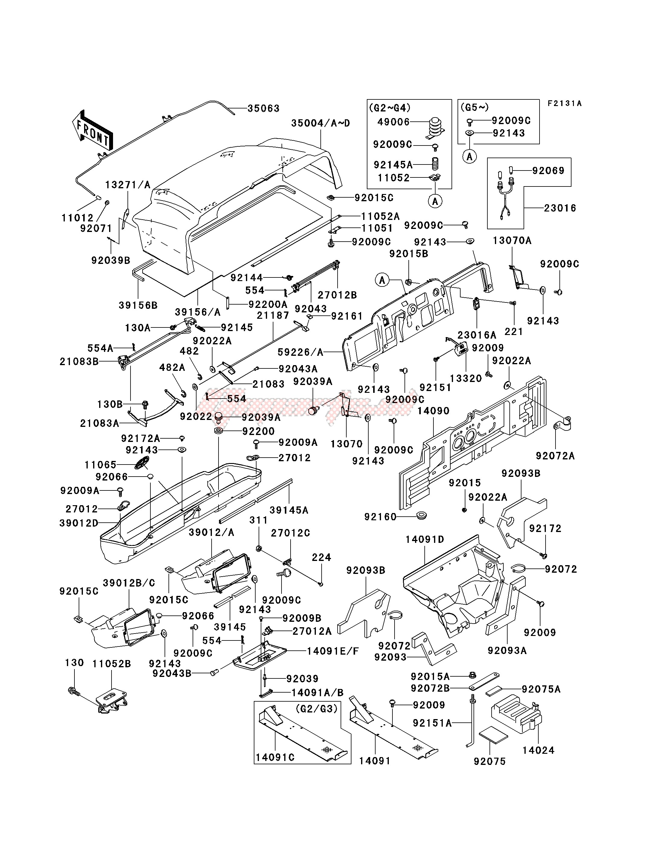 Frame-FRAME FITTINGS -- KAF620-G2 - G5- -