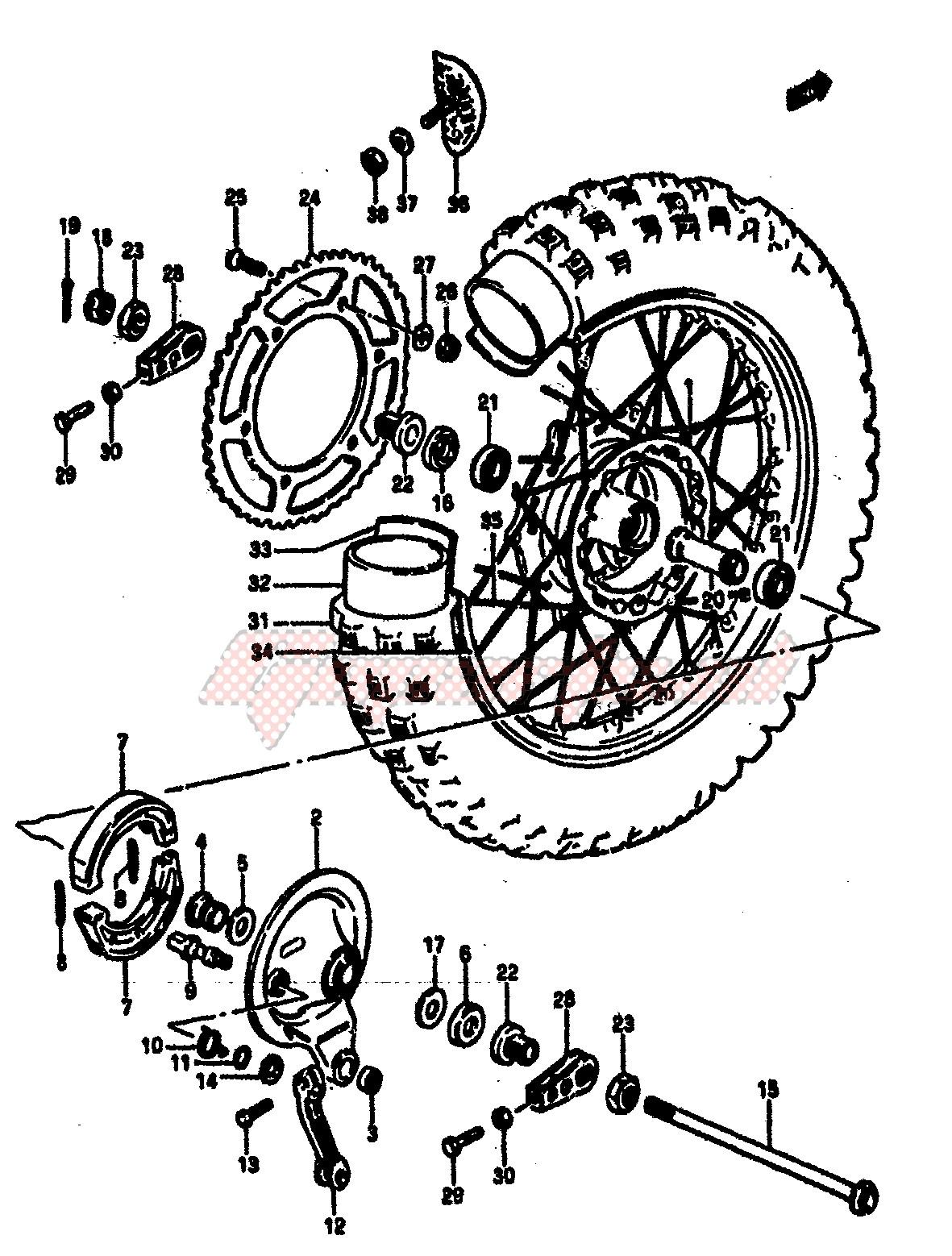 REAR WHEEL (MODEL E) image