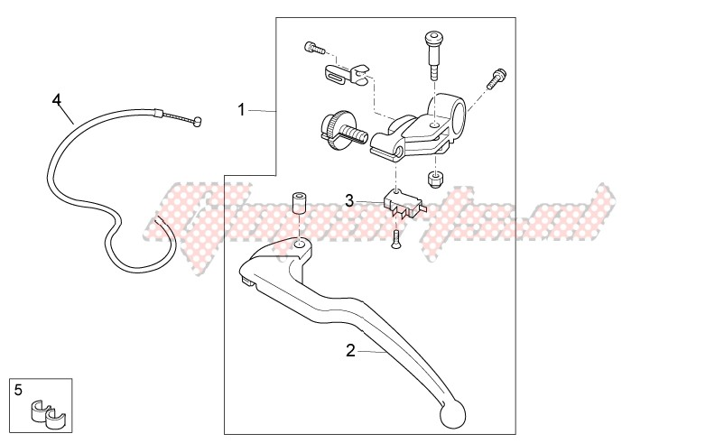 FRAME-Clutch lever