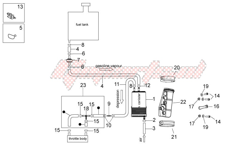 Tank-Fuel vapour recover system
