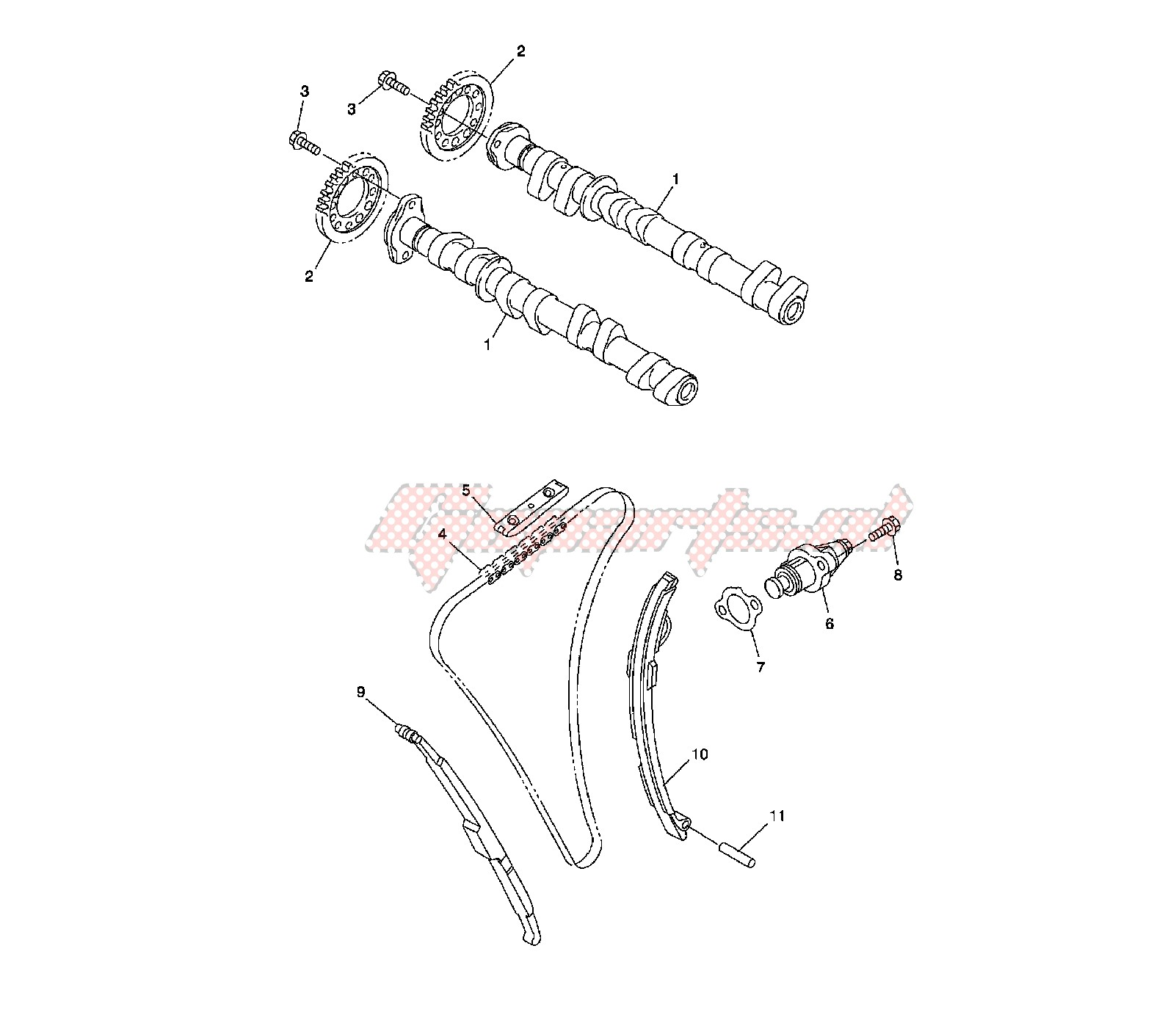 CAMSHAFT AND TIMING CHAIN image