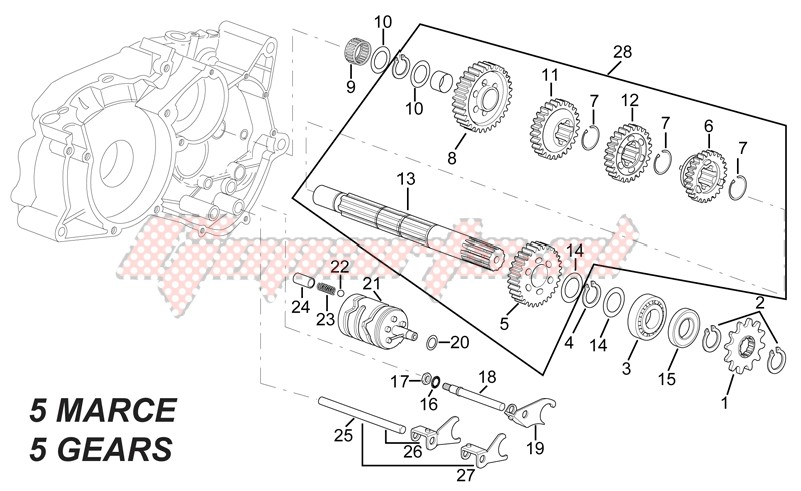 Driven shaft - 5 GEARS image