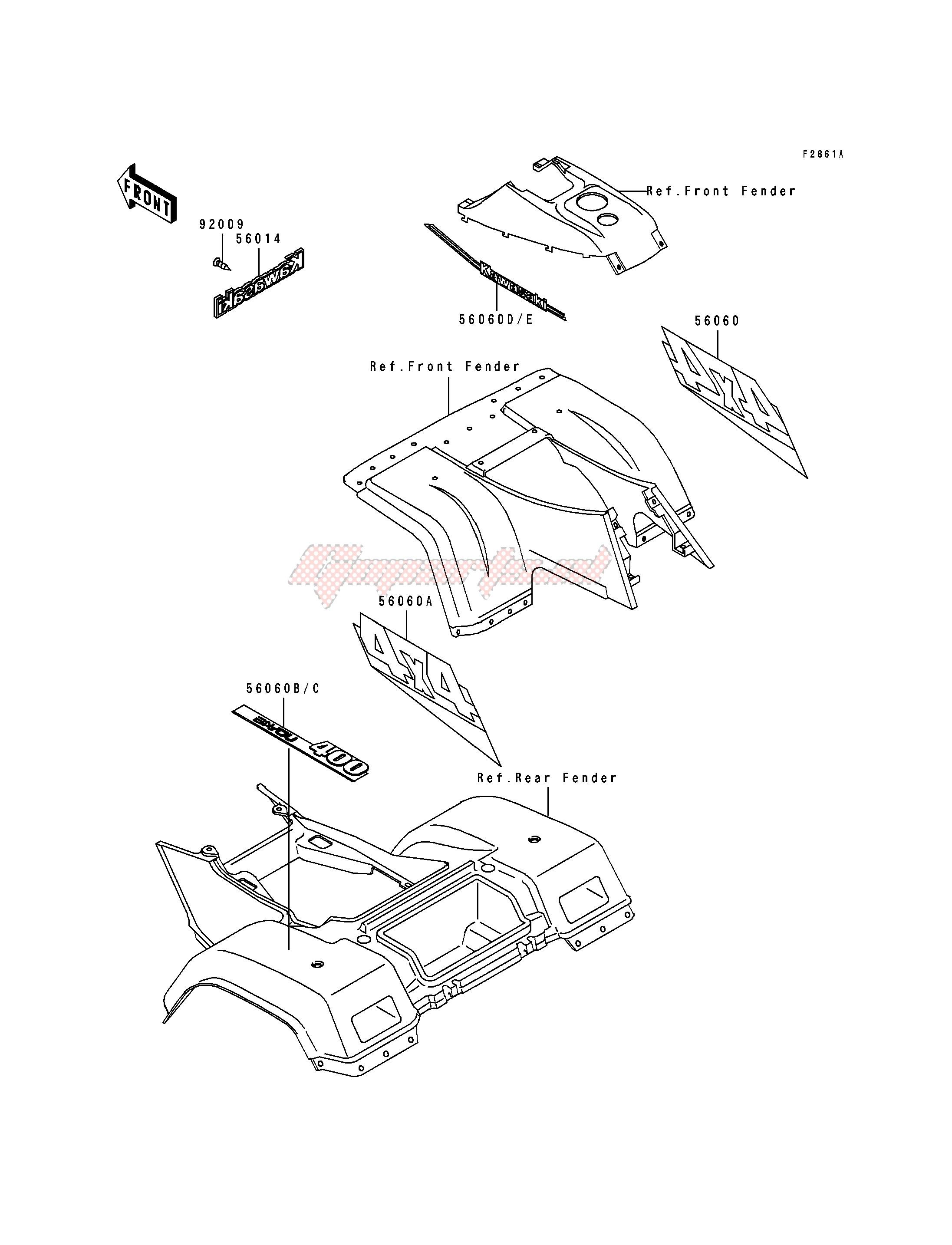DECALS-- GRAY- --- KLF400-B1- - image