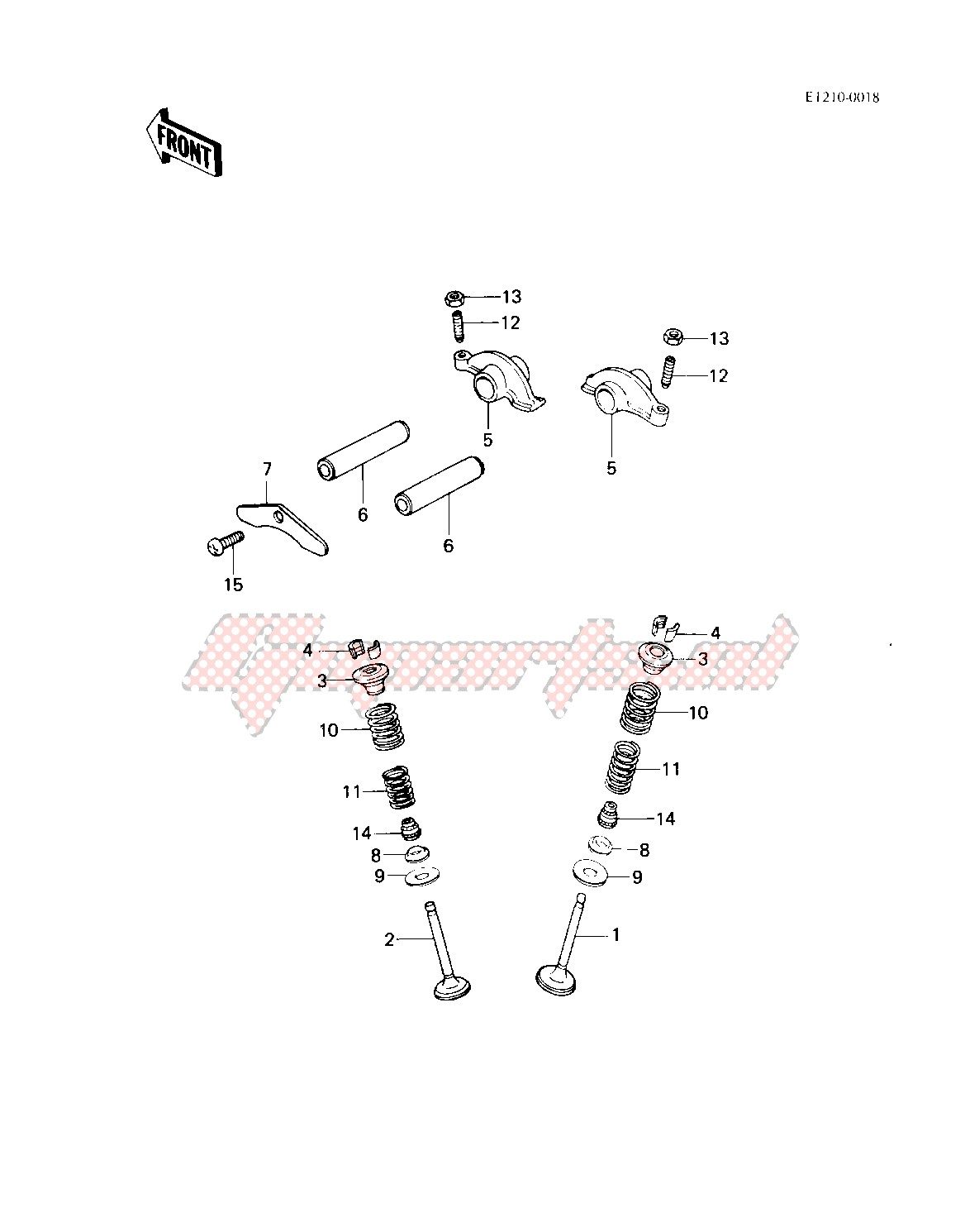 ROCKER ARMS_VALVES -- 83 KLT200-C1- - image