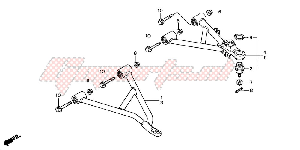 -FRONT ARM (TRX350TM/TE)