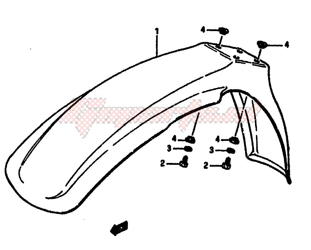 FRONT FENDER blueprint