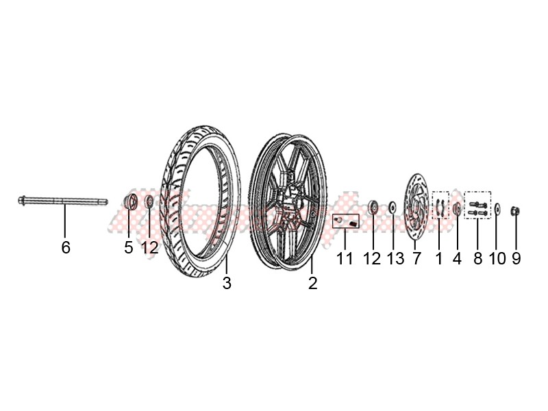 Front wheel made of alloy image