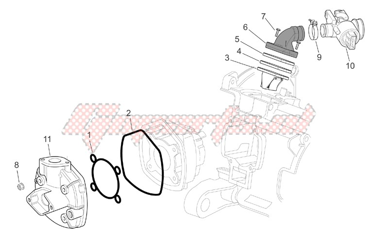 Cylinder head - Throttle body image