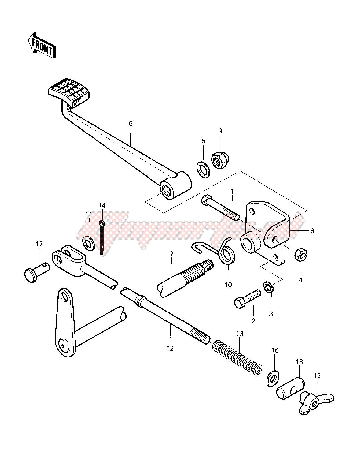 BRAKE PEDAL -- 83 KLT200-C1- - image
