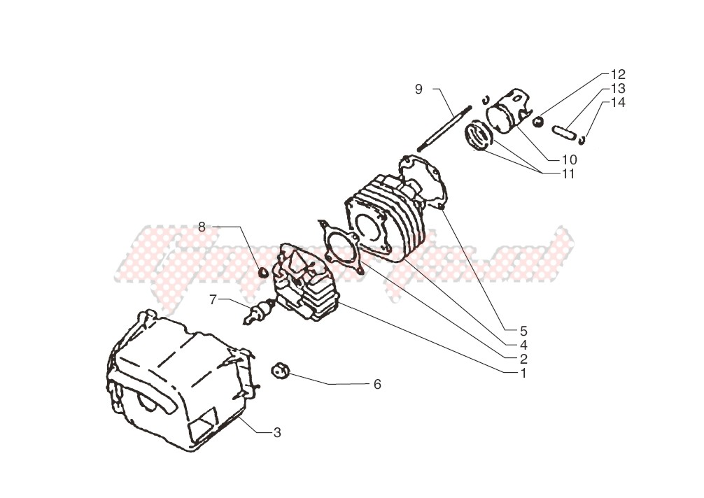 -Cylinder-piston-wrist pin assy.