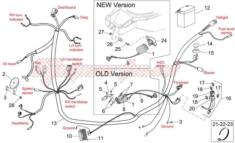 [SODI_2457]   OEM Electrical system II - (Aprilia [Scooter] SR R and R Factory 50 IE-Carb  / 2005) | Goparts | Aprilia Sr 50 2005 Wiring Diagram |  | Goparts