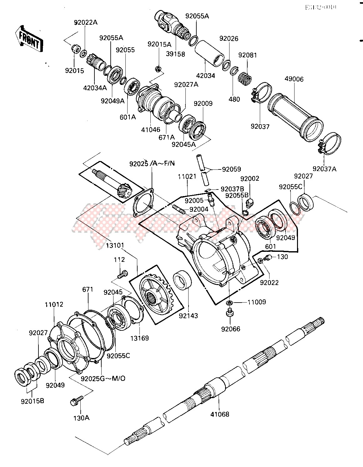 DRIVE SHAFT_FINAL GEARS_REAR AXLE -- E_NO. 015128-- - image