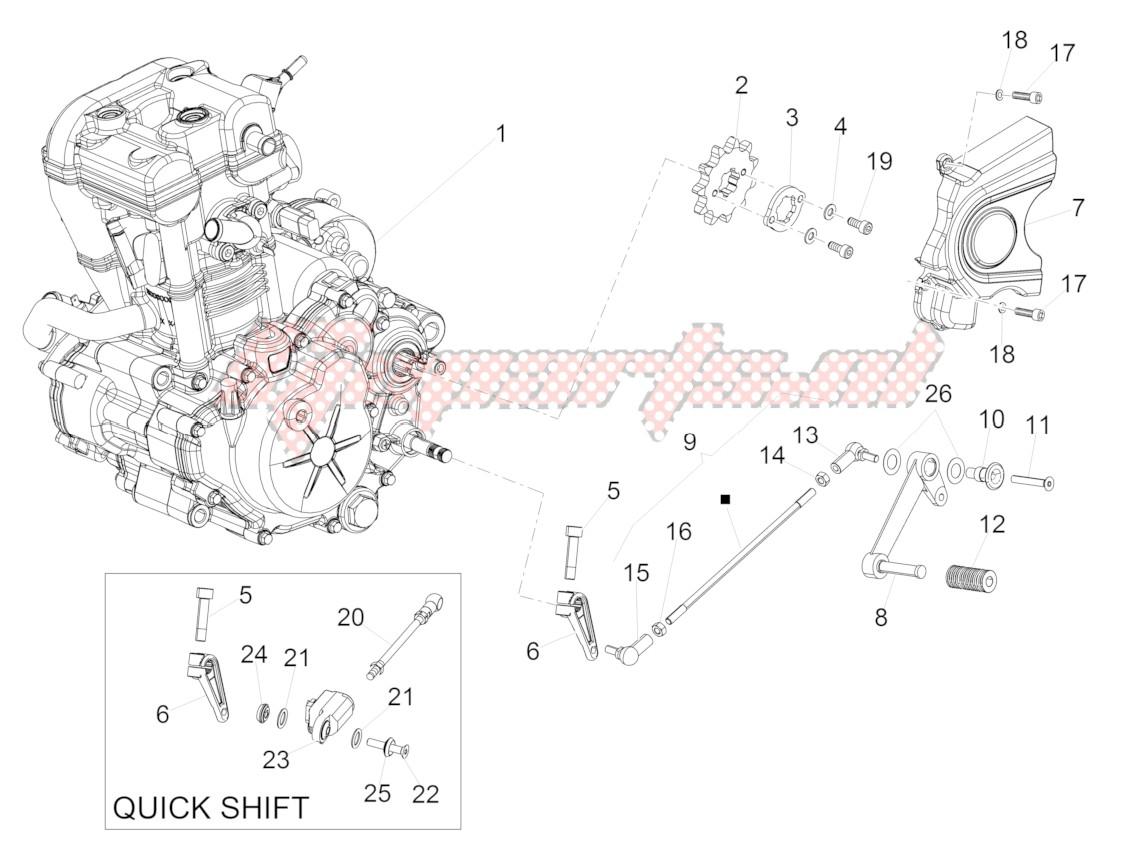 Engine-Completing part-Lever image
