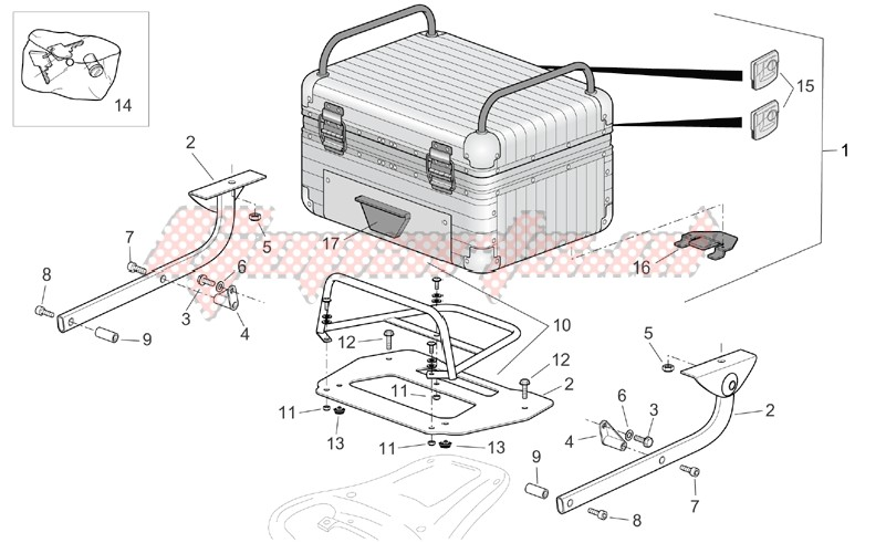 Aluminium top box image