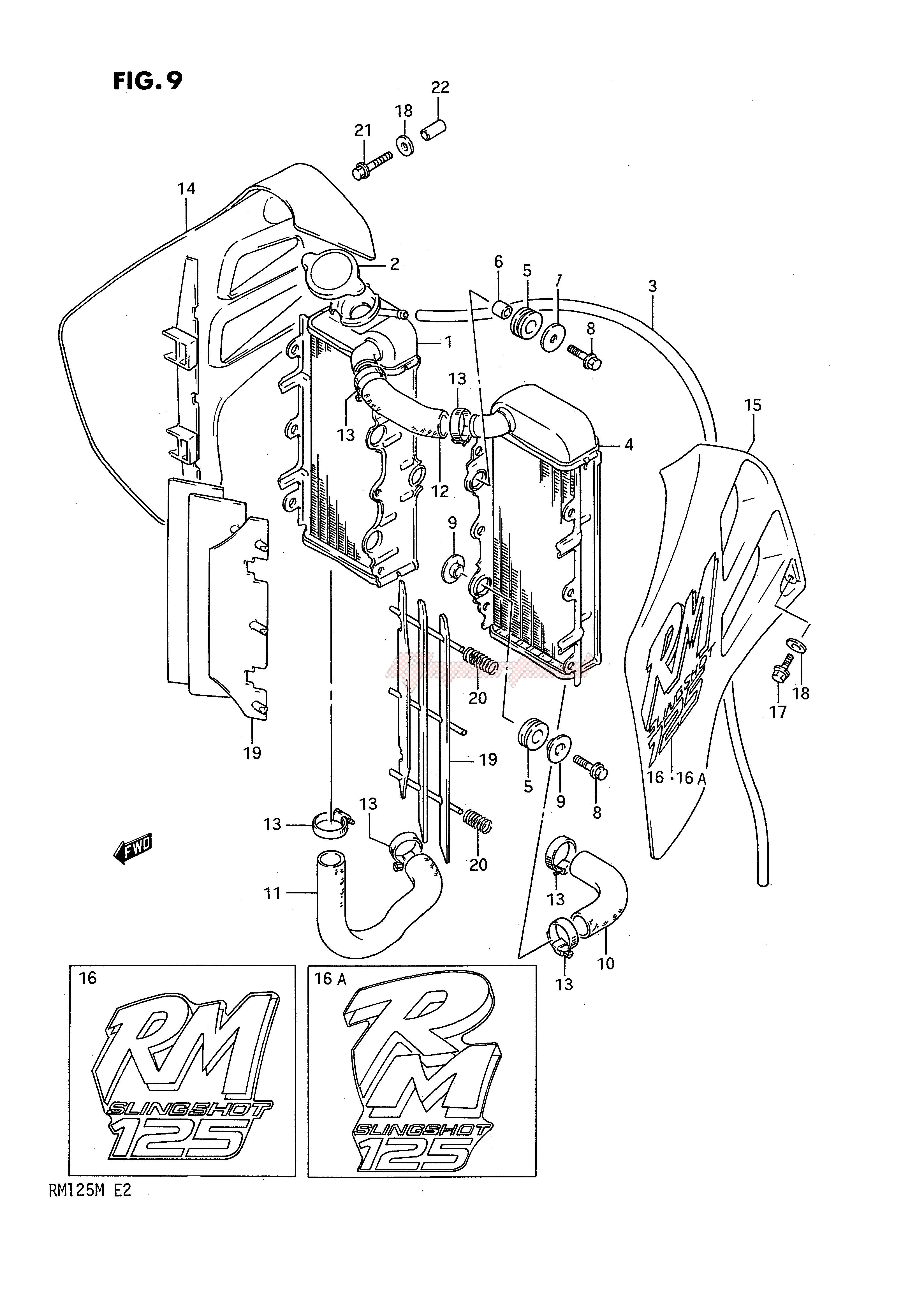 RADIATOR (MODEL K L) blueprint