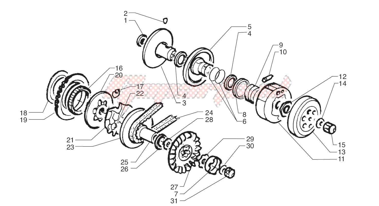 Driving pulley - Driven Pulley image