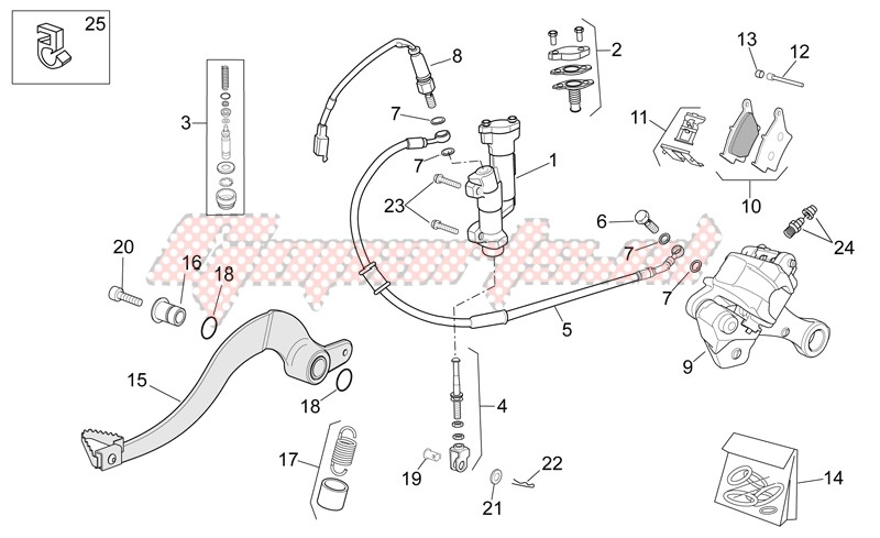 Suspensions - Wheels-Rear brake system