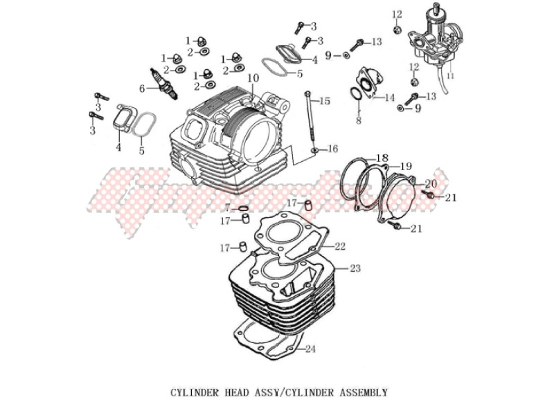 Engine-Cylinder head cover - Cylinder