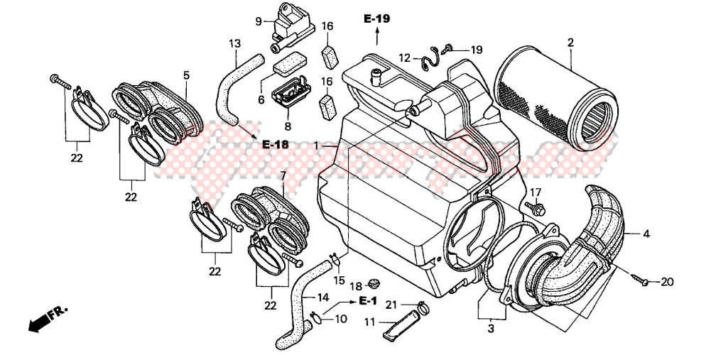 AIR CLEANER (CB600F2/F22) image